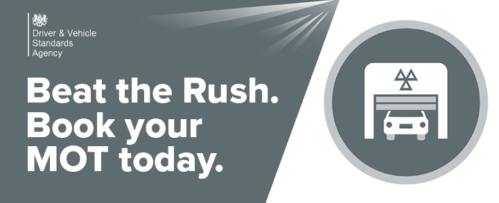 Beat the Rush, book your MOT today.