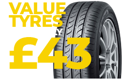 Tyres from £43.