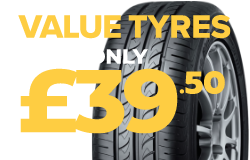 Tyres from £39.50.