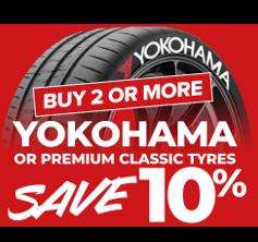 Buy 2+ Premium or Yokohama save 10%.