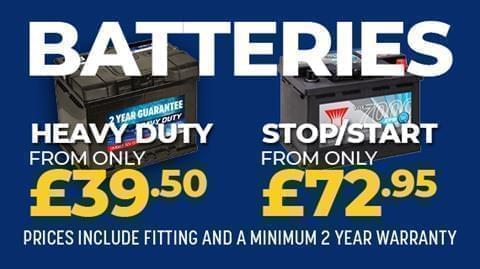 Batteries from £39.50