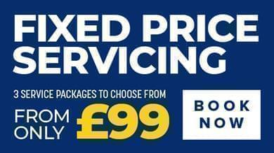 Fixed price servicing from only £99